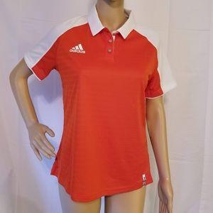 Adidas coaches polo Shirt new orange womens medium